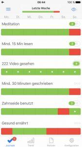 Gewohnheiten ändern App